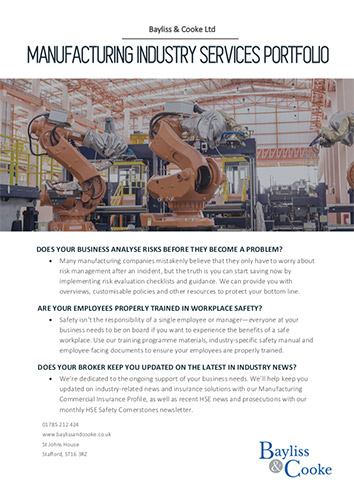 Download our manufacturing industry services portfolio